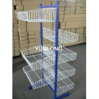 Buy cheap 5 Tier Wire Slipper Shop Display Stands With Double Side Basket from Wholesalers