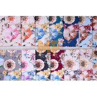 Quality Soft Velvet 100% Polyester Upholstery Fabric Waterproof Flower Printing 143 cm wholesale
