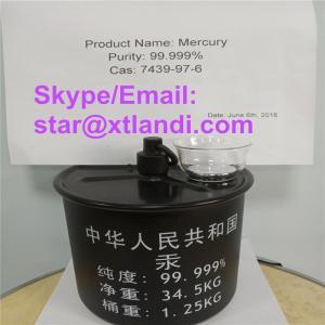 China china mercury price cas:7439-97-6 mercury supplier silver liquid mercury Email/Skype:star@xtlandi.com liquid mercury on sale