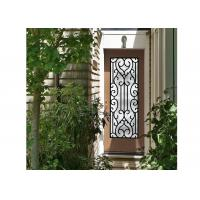 Buy cheap Galvanized Steel Remarkable Inlaid Door Glass For Building Hand Forged from wholesalers