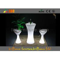 Buy cheap Outdoor / Indoor illuminated LED Cocktail Table Built-in rechargeable battery from Wholesalers