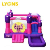 Buy cheap Small Bounce Castle Jump and Slide Pink Bouncer House PVC Plato Tarpaulin 4*4*4m from wholesalers