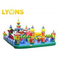 Buy cheap 0.55mm PVC Tarpaulin Inflatable Fun City Jumping Castle For Kids CE  UL from wholesalers