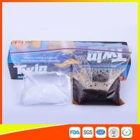 Buy cheap 2 Sections In 1 Bag Clear Reusable Food Storage Bags With Zipper Top from Wholesalers