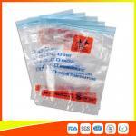 Buy cheap Zip Seal Medical Transport Bags For Hospital , Biohazard Ziplock Bags from Wholesalers