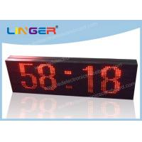 Buy cheap LED Scrolling Message Sign / Electronic Clock Display 2 Years Warranty from Wholesalers