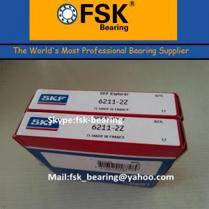 Buy cheap Gcr15 Chrome Steel 6211ZZ Pump Bearings , P4 P2 SKF / KOYO / NTN Ball Bearing from wholesalers