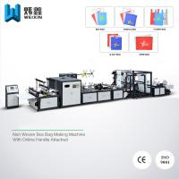 Buy cheap Handle Attached Non Woven Bag Making Machine For T - shirt Bag Drawstring Bag from Wholesalers