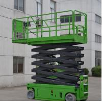 Buy cheap 11.8 Meters Platform Height 230Kg Loading Capacity Self-Propelled Scissor Lift with Extension Working Platform from wholesalers