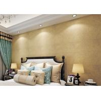 Buy cheap Gold Multifilament Nonwoven Water Resistant Wallpaper / Strippable Wall Paper from Wholesalers