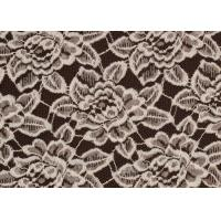 Quality OEM / ODM Customied Brushed Floral Lace Fabric By The Yard Anti-Static CY-LQ0006 wholesale