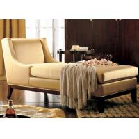 Buy cheap Luxury Wooden Chaise Lounge Chairs With Hardwood Frame / Fabric Upholstered from Wholesalers
