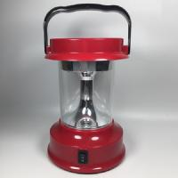 China Red Portable Solar LED Lantern For Home Lighting AC Adapter Identification on sale