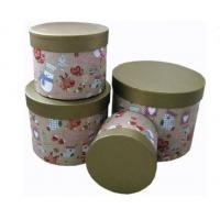 Quality Round Biodegradable Sturdy Base And Lid Cardboard Boxes Christmas Pattern for sale