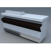 Buy cheap Commercial Steel Edge Retail Shop Counters , Practical Store Checkout Counter from Wholesalers