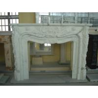 China Contemporary Natural Stone Fireplaces / White Marble Fireplace Customized Shape on sale