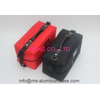 Buy cheap Zipper Cosmetic Travel Case , Red And Black Professional Travel Makeup Bag from Wholesalers