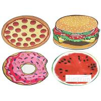 Quality Donuts Design Lovely AZO Free Custom Printed Beach Towels Luxury For Travel wholesale