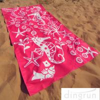Buy cheap Full Color Reactive Custom Printed Beach Towels Easy Carrying Eco Friendly from Wholesalers