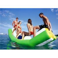Quality Green And White Single Water Totter Inflatable Water Games For 4 People wholesale
