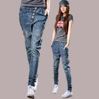 Buy cheap Fireproof Ladies Coloured Straight Leg Ankle Jeans 100 Percent Cotton Denim from Wholesalers