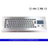 Buy cheap 64 Keys Industrial Desktop Keyboard , Metal Keyboard With Touchpad from Wholesalers