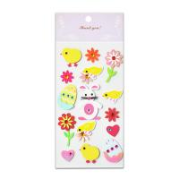 Buy cheap Acrylic Paper Jewel Stickers Rattit Chicken And Egg Lovely Design Handwork 3D Layer Size 16*6.5cm Education Item from wholesalers