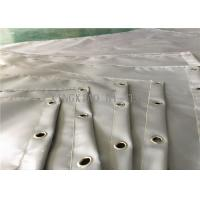 Silicone / Acrylic / PVC Coated Flame Resistant Curtains High Temperature Resistance