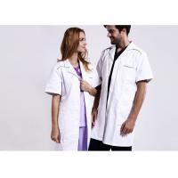 Unisex Practical White Doctor Lab Coat Eco - Friendly Unique Design With Buttons
