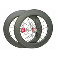 Quality 25mm Width Carbon Track Bike Wheels 700c 88mm Matte / Glossy Finishing for sale