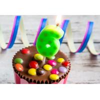 Buy cheap Hand Painting 0-9 Number Candles For Birthday Cakes With Dots Design from Wholesalers