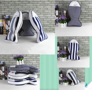 Quality Custom shape cushion,irregular Mediterranean cushion,fish shape cushion with button eye wholesale
