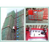 Twin Cages Construction Hoist Elevator , Buck Construction Material Lifting Hoist