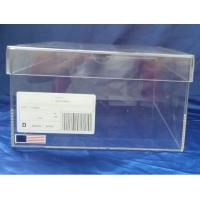 Buy cheap SGS 32x23x17cm Transparent Perspex Shoe Box With Sticker Logo from Wholesalers