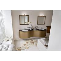 Buy cheap Hanging Custom Bathroom Vanity Cabinets Granite Countertop With Double Mirror from wholesalers