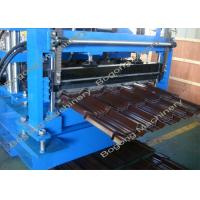 Buy cheap Villa Roof Tile Roll Forming Machine Cr12 Steel Blade 2 - 4m / Min Working Speed from Wholesalers