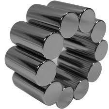 China Ni-Cu-Ni coating Neodymium Rod Magnets for wind generators, sensors, leather on sale