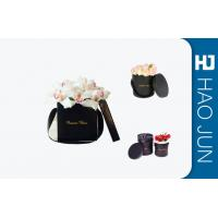 Buy cheap Black Flower Packing Boxes , Small Cardboard Boxes With Handles / Lids from Wholesalers