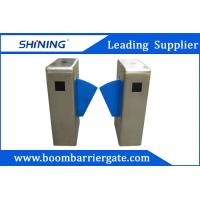 Quality 550mm Breadth Single Lane Flap Barrier For Security With QR Code Reader wholesale