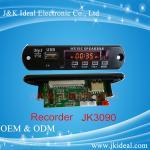 JK002L LCD usb sd fm wma wav mp3 aux recorder mp3 player module