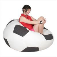 Buy cheap Indoor Red Foam Bean Bag Chairs , Lazy Sofa With Styrofoam Particles from Wholesalers