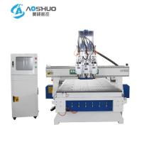 X Y Z Axis 3 Head Wooden Cnc Router Engraving Machine With Italy HSD Brand Spindle