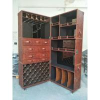 Buy cheap Foldable Red Wine Storage CabinetReddish Brown Luxury Top Grain Leather from wholesalers