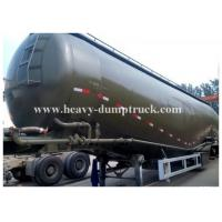 Buy cheap Carbon steel Durable Bulk Cement Power Trailer 75Tons and 78CBM , Silo Trailer with warranty from Wholesalers