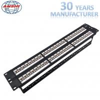 Buy cheap Unshielded Utp Network Rack Mount Patch Panel 2u 48 Port Keystone Jack Modular Type from wholesalers