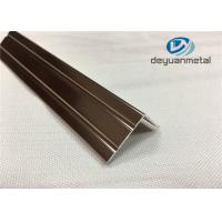 Quality 6063 T5 Polishing Bronze Aluminium Trim Extrusion Profile GB/75237-2004 wholesale