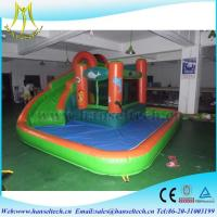 Buy cheap Hansel best selling commercial inflatable bouncer jumping castle with water slide in Guangzhou from Wholesalers