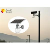 Quality 5 years warranty 160lm/w solar led street court garden light with timer and microwave motion sensor for sale