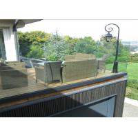 Buy cheap U Channel Aluminum Deck Railing Systems Tempered Glass Guardrail For Residential Fence from wholesalers