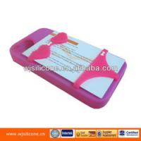 Buy cheap Card holder silicone phone case for iphone 4 from Wholesalers